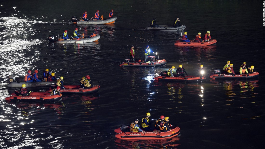 Rescuers search for debris on February 4.