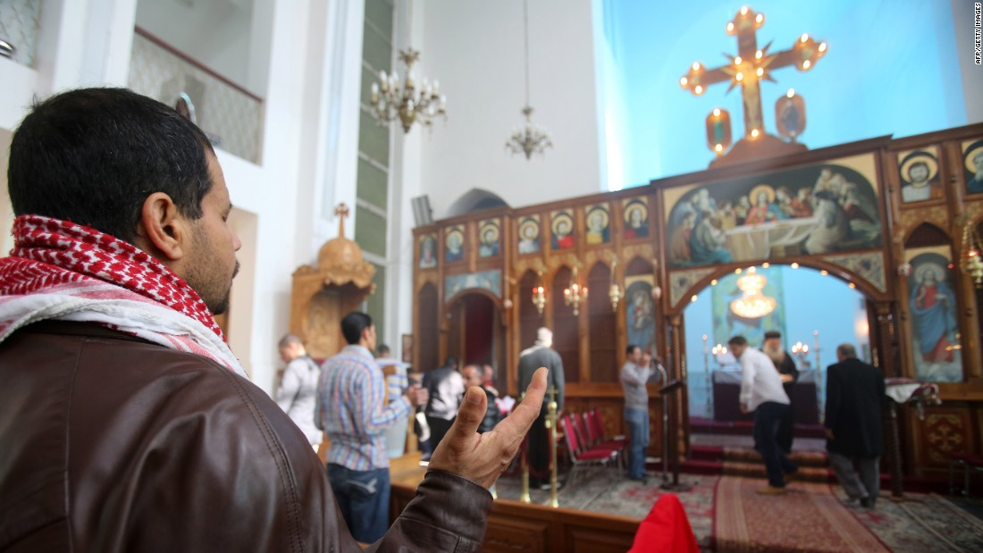 Jordanian Christians in Amman pray during a Mass held for al-Kasasbeh on February 4.