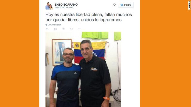 Emiten orden de excarcelación de Enzo Scarano, exalcalde opositor en Venezuela