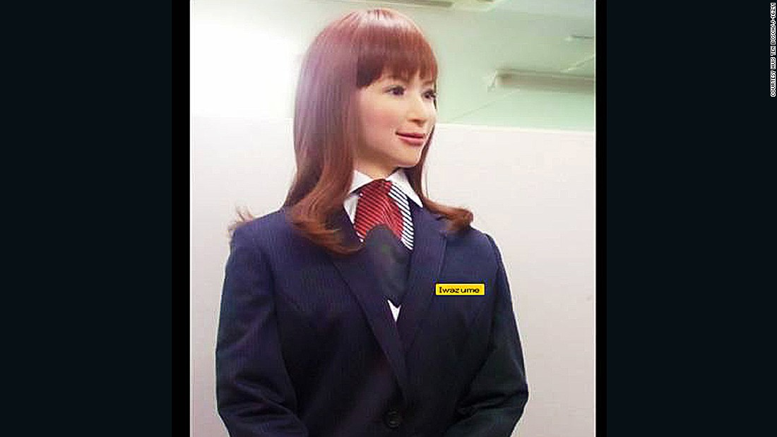 "The smart hotel features ""actroid"" receptionists -- robots that resemble humans and can engage in intelligent conversation."