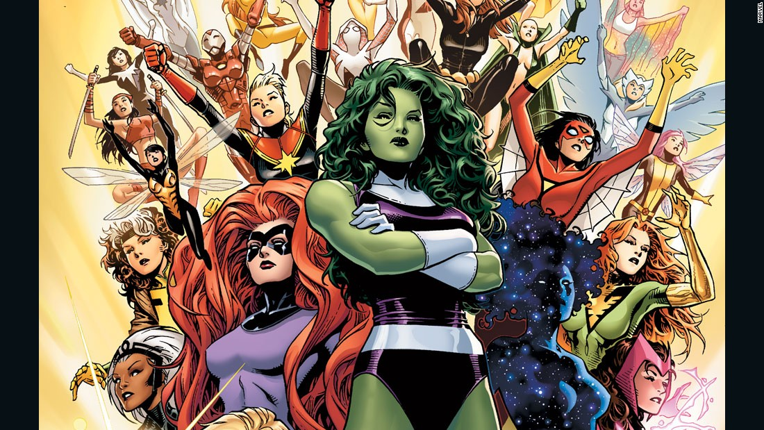 "Marvel Comics announced it will replace all Avengers teams with a new one, composed entirely of women like She-Hulk, Medusa and Dazzler. ""The A-Force"" comic book hits stores in May."