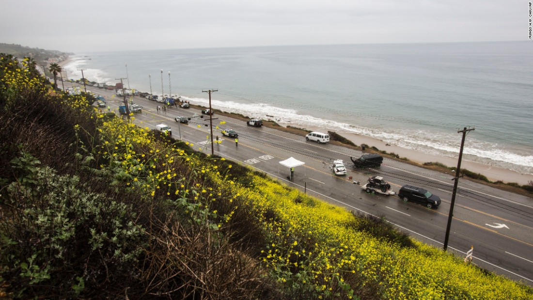 The accident closed a stretch of Pacific Coast Highway in Malibu.