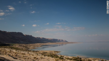 The southwestern coastline of the Dead Sea, Israel