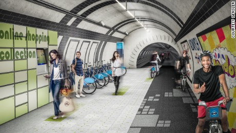 The London Underline concept seeks to transform disused metro tunnels into a network of underground pathways.