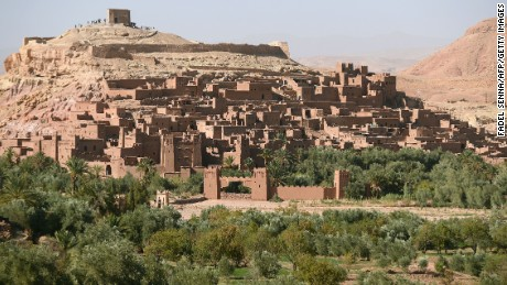 A picture taken on October 19, 2014 shows the kasba of the southern village of Ait-Ben-Haddou near Ouarzazate. Ait-Ben-Haddou is an ensemble of buildings offering a complete panorama of pre-Saharan construction techniques as well as a miniature of the architectural typology of southern Morocco. AFP PHOTO / FADEL SENNA (Photo credit should read FADEL SENNA/AFP/Getty Images)