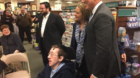 Former presidential candidate Rick Santorum poses at a book tour signing at the Bayside Queens Barnes and Noble in New York City.