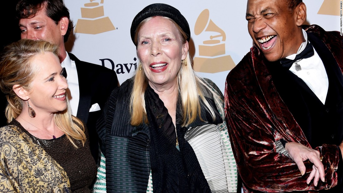 "Canadian singer-songwriter Joni Mitchell, center, told <a href=""http://nymag.com/thecut/2015/02/joni-mitchell-fashion-muse.html#Q5UmAd:KKz"" target=""_blank"">New York magazine</a> that she's appeared as a black man on one of her album covers. ""I really feel an affinity because I have experienced being a black guy on several occasions."""