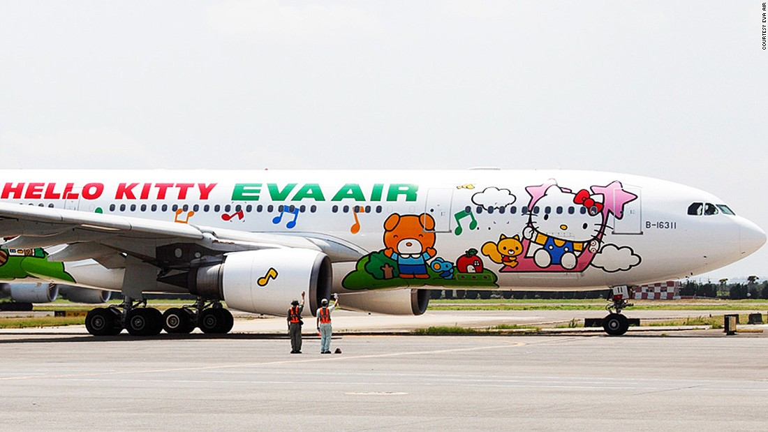 Not only does the island have a Hello Kitty cafe, but Kitty-themed beer, airplanes and hotel rooms.