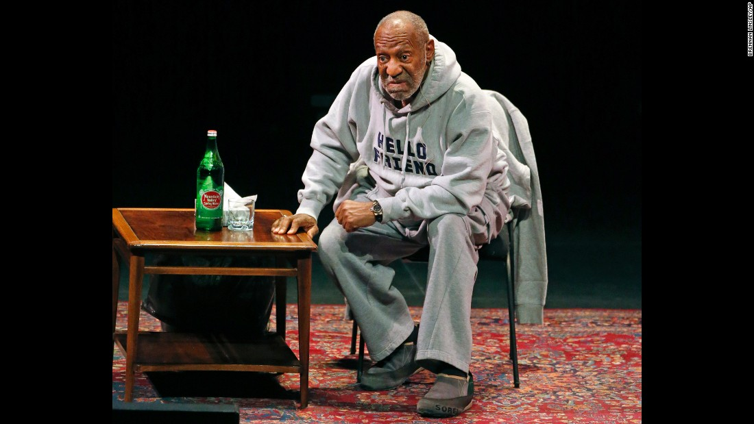 Cosby performs at the Buell Theater in Denver in January 2015. At 77, Cosby maintains a regular performing schedule.