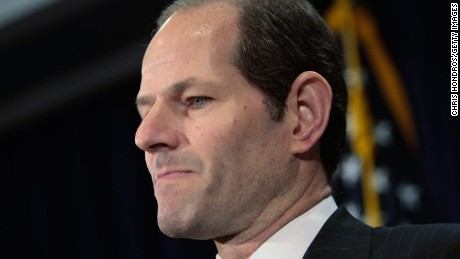 New York Governor Eliot Spitzer announces his resignation March 12, 2008 in New York City.