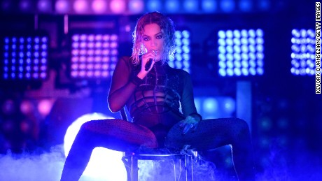 Caption:LOS ANGELES, CA - JANUARY 26: Singer Beyonce performs onstage during the 56th GRAMMY Awards at Staples Center on January 26, 2014 in Los Angeles, California. (Photo by Kevork Djansezian/Getty Images)