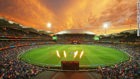A general view during the 2015 ICC Cricket World Cup match between India and Pakistan at Adelaide Oval on February 15, 2015 in Adelaide, Australia.
