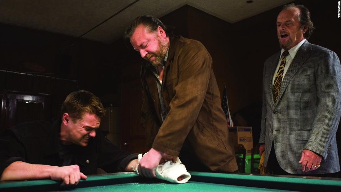 """Director Martin Scorsese's films were often well-reviewed but couldn't win the big prize, until """"The Departed,"""" about a Boston gangster and some corrupt cops. The film stars Leonardo DiCaprio, left, Ray Winstone, and Jack Nicholson, right."""