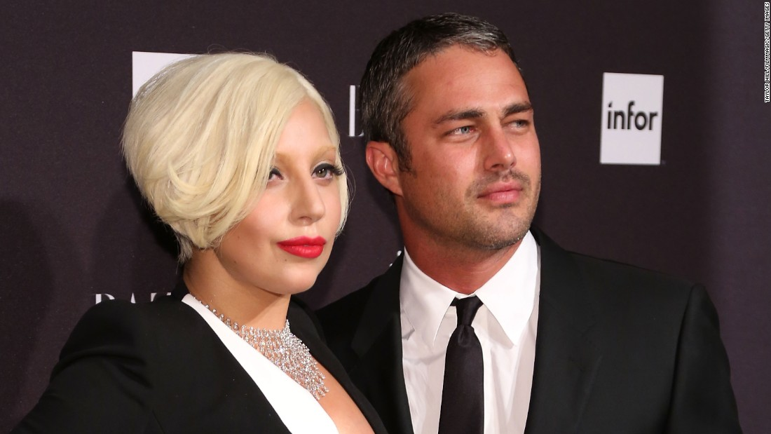 "Lady Gaga and actor Taylor Kinney got engaged on Valentine's Day. The ""Bad Romance"" singer announced the engagement by showing off a picture on her <a href=""http://instagram.com/p/zLTE0fJFNd/?modal=true"" target=""_blank"">verified social media accounts</a> of a heart-shaped engagement ring. ""He gave me his heart on Valentine's Day, and I said YES!"" she said."