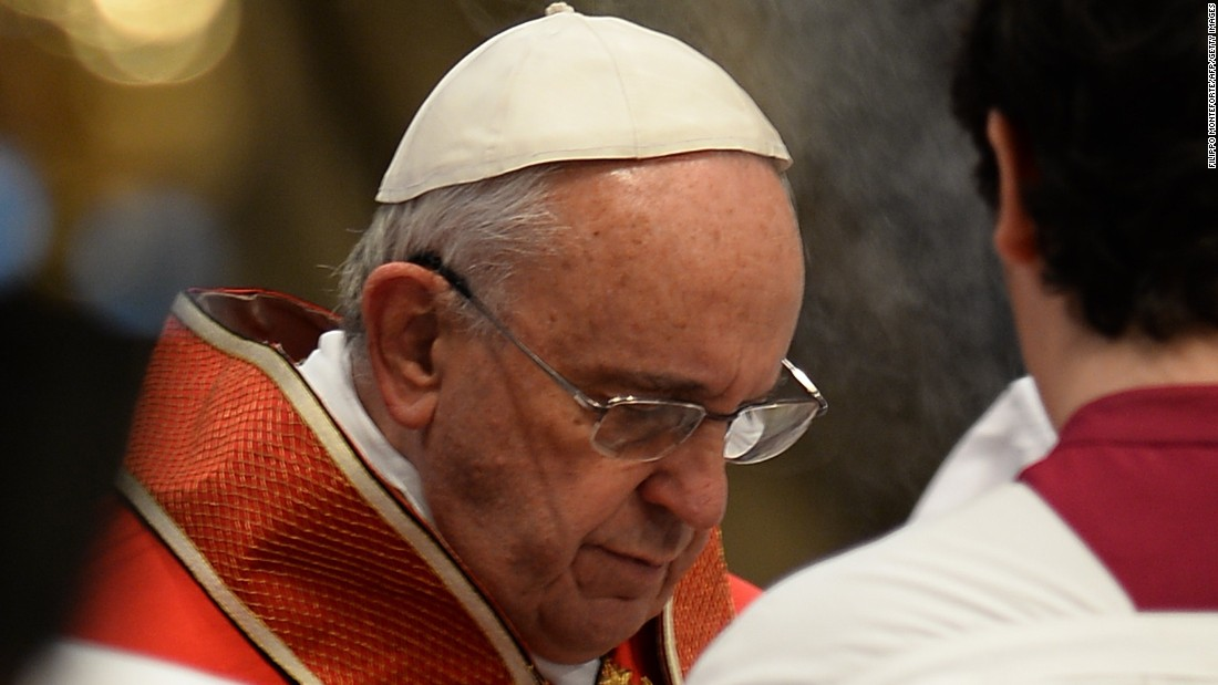 The Pope attends the funeral of Cardinal Karl Josef Becker on Monday, February 16.