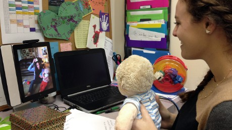 The BabyTalk teletherapy program connects kids who have cochlear implants with therapists who are teaching them how to hear.