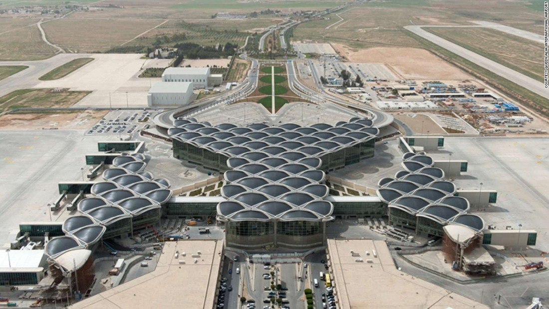 Queen Alia International Airport was named best Middle Eastern airport serving more than two million passengers each year. It's named after the third wife of King Hussein of Jordan.