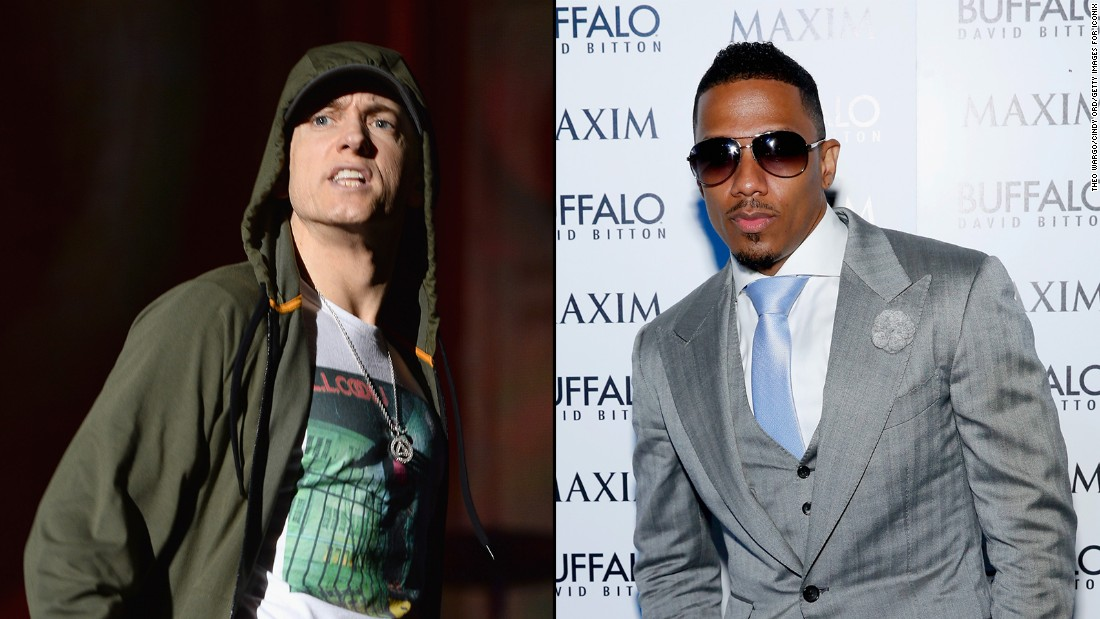 It's a case of he said/she said/he said. Eminem set it off after he claimed to have had a torrid dating relationship with singer Mariah Carey, who denied it. Her husband, Nick Cannon, even offered to defend her honor by meeting the rapper in the ring.