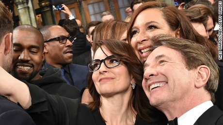 SATURDAY NIGHT LIVE 40TH ANNIVERSARY SPECIAL -- Pictured: (l-r) Tina Fey, Maya Rudolph, Martin Short on February 15, 2015 -- (Photo by: Theo Wargo/NBC/NBCU Photo Bank via Getty Images)