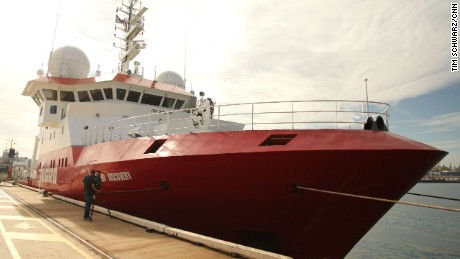 The Fugro Discovery, one of the specialist search vessels being used in the hunt for MH370.