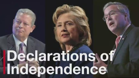 Politicians declare their independence