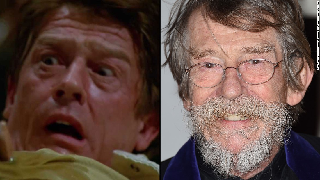 """In the first film's bloodiest and most famous scene, John Hurt gave unexpected birth to an alien that burst from his chest. The British actor, now 75, has since appeared in """"V for Vendetta,"""" """"Indiana Jones and the Kingdom of the Crystal Skull"""" and the Harry Potter film series."""