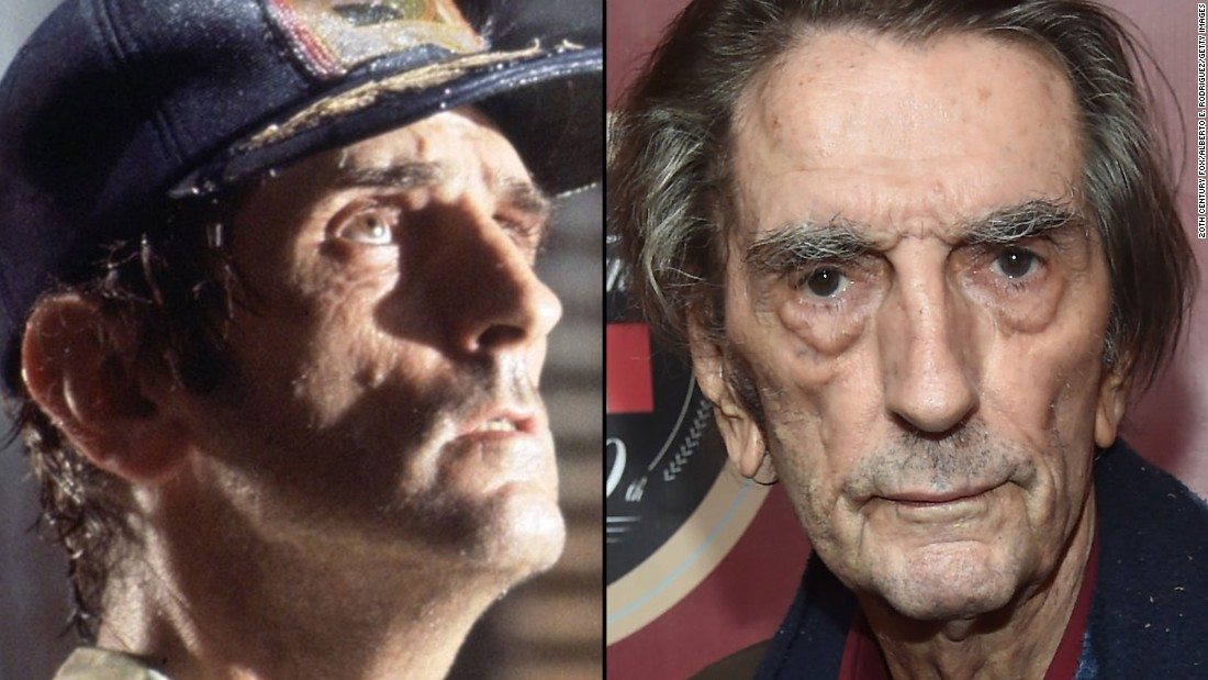 """Veteran character actor Harry Dean Stanton was one of the alien's first victims in the original movie. Now 88, he has appeared since in dozens of films, including """"Repo Man,"""" """"Pretty in Pink,"""" """"Twister"""" and """"The Green Mile."""" He also had a cameo in 2012's """"The Avengers."""""""