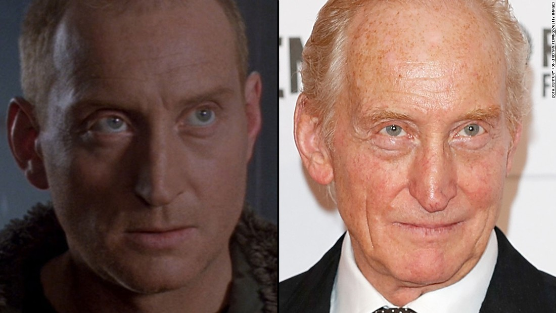 """British actor Charles Dance, now 68, played a doomed penal-colony doctor in """"Alien 3."""" He recently appeared in """"The Imitation Game"""" and is probably best known to today's audiences for his role as the ruthless lord Tywin Lannister in HBO's """"Game of Thrones."""""""