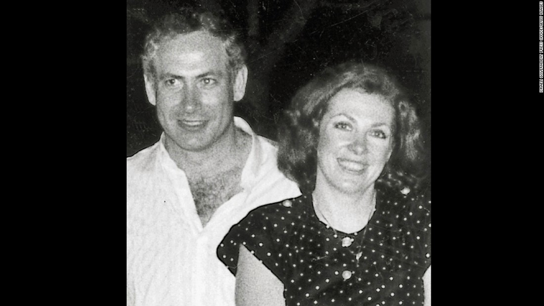 Netanyahu and his first wife, Miriam, in June 1980.