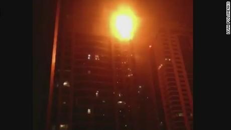 cnni live mann beeper dubai skyscraper fire_00010506.jpg