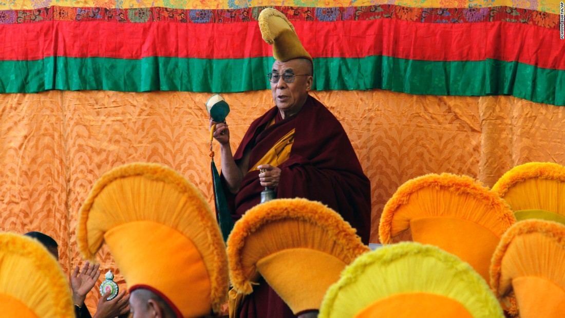 The Dalai Lama leads a prayer session marking the beginning of the Tibetan New Year in Dharmsala, India, on February 14, 2010.