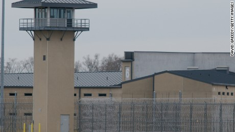 A guard tower and prison yard remains empty at the Thomson Correctional Center on November 15, 2009 in Thomson, Illinois. The closed prison facility is being considered by the Department of Defense to house suspects from the closing U.S. Guantanamo Bay prison. (Photo by David Greedy/Getty Images)