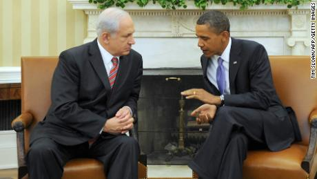 U.S. President Barack Obama holds a bilateral meeting with Prime Minister Netanyahu  on September 1, 2010 at the White House.