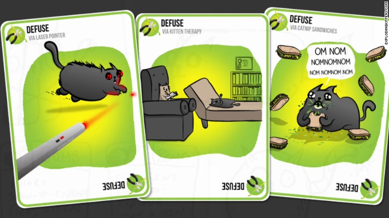 'Exploding Kittens' crowd funding sets records