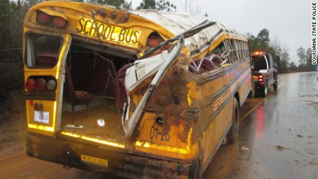 A Rapides Parish school bus crashed Wednesday morning, leaving 11 children and the driver injured.
