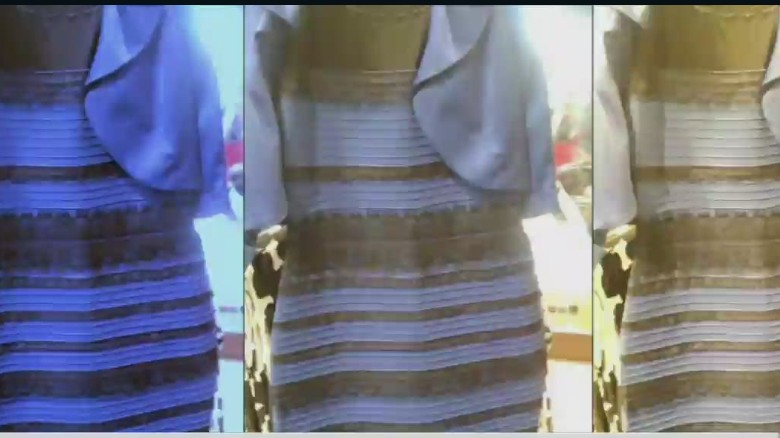 Vestido negro y azul dorado
