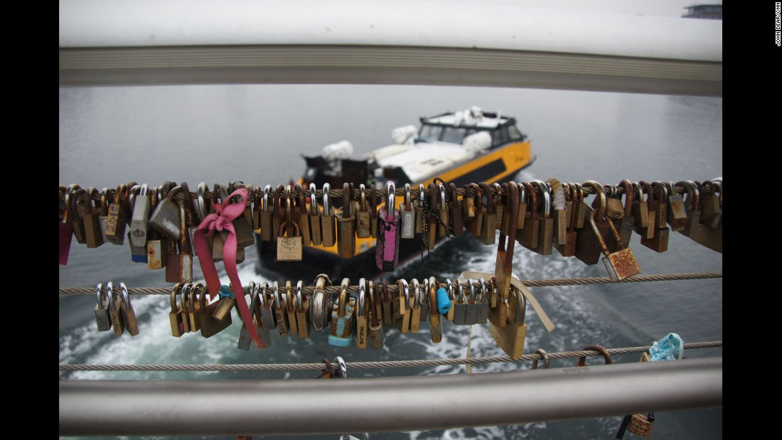 "DENMARK: ""Love locks hang from Bryggebroen in Copenhagen as a water taxi passes under the cyclist & pedestrian only bridge."" - CNN's John Dear.<br />Follow <a href=""http://instagram.com/johndearcnn"" target=""_blank"">@johndearcnn</a> and other CNNers on the <a href=""http://instagram.com/cnnscenes"" target=""_blank"">@cnnscenes</a> gallery on Instagram for more images you don't always see on news reports from our teams around the world."
