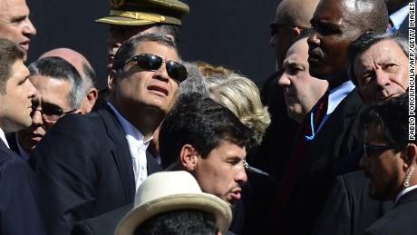 rafael correa uruguay inauguration