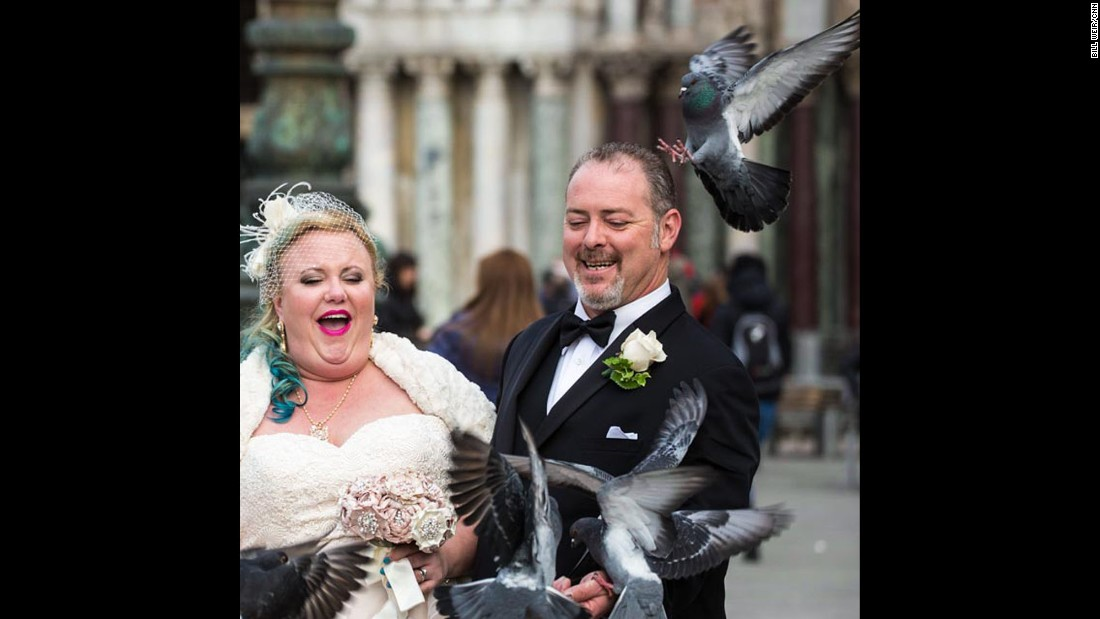 "ITALY: ""Newlyweds in St. Mark's Square, Venice. Honeymoon spoiled as groom is carried off by suprisingly strong pigeon."" - CNN's Bill Weir.<br />Follow <a href=""http://instagram.com/billweircnn"" target=""_blank"">@billweircnn</a> and other CNNers on the <a href=""http://instagram.com/cnnscenes"" target=""_blank"">@cnnscenes</a> gallery on Instagram for more images you don't always see on news reports from our teams around the world."