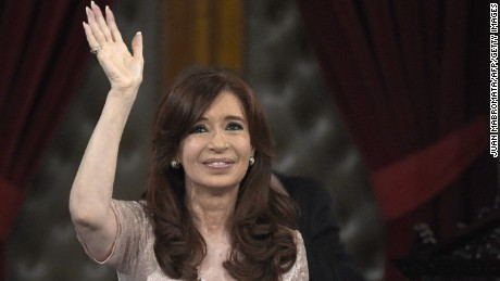 Argentine President Cristina Fernandez de Kirchner waves during the inauguration of the 133th period of ordinary sessions at the Congress in Buenos Aires, Argentina on March 1, 2015.