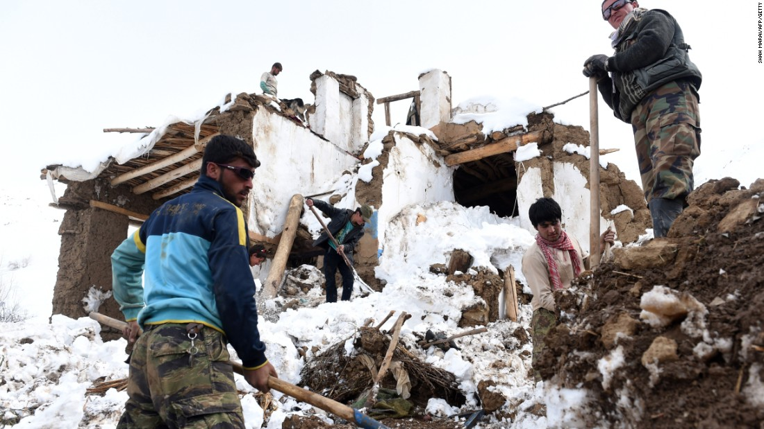 Death toll at 168 from afghanistan avalanches for Cleaning out house after death