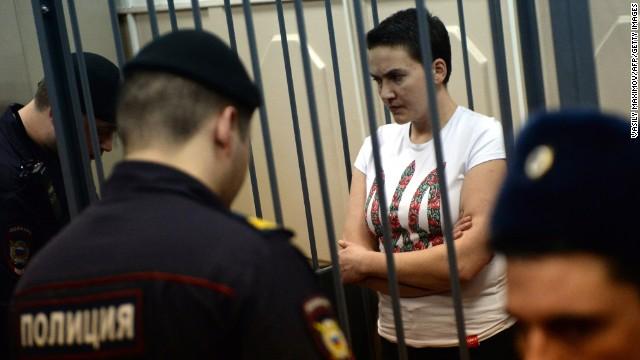 Savchenko, la piloto ucraniana encarcelada, envía un mensaje desafiante a Putin