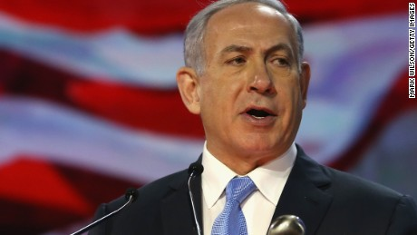 WASHINGTON, DC - MARCH 02: Israeli Prime Minister Benjamin Netanyahu speaks during the American Israel Public Affairs Committee (AIPAC) 2015 Policy Conference, March 2, 2015 in Washington, DC. Tomorrow March 3rd Prime Minister Netanyahu is scheduled to address a joint session of the US Congress.(Photo by Mark Wilson/Getty Images)