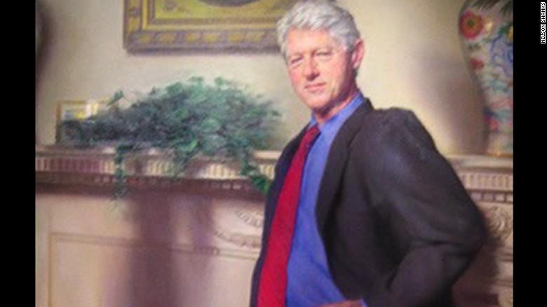 """Mónica Lewinsky, ¿""""escondida"""" en este retrato de Bill Clinton?"""