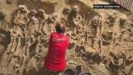 Hallan 200 esqueletos bajo un supermercado