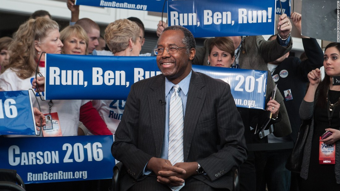 Retired neurosurgeon Ben Carson on March 2 announced the launch of an exploratory committee. The move will allow him to raise money that could eventually be transferred to an official presidential campaign and indicates he is on track with stated plans to formally announce a bid in May.