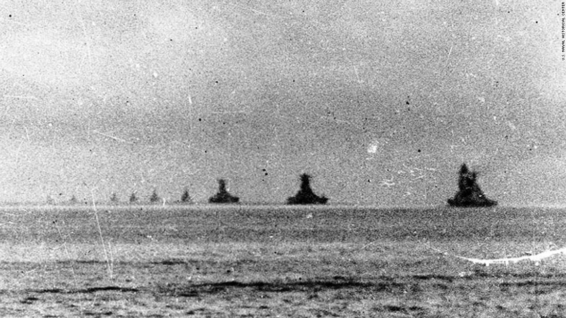 The Japanese Center Force leaves Brunei Bay on October 22, 1944, en route to the Philippines.