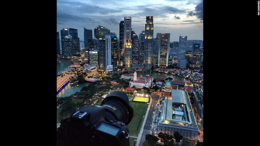 "SINGAPORE: ""In Singapore spending time with Michelle Wie for CNN's 'Leading Women'. This view from my hotel room was so good it deserved an epic time lapse."" - CNN's Tom Booth.<br />Follow <a href=""http://instagram.com/tboothhk"" target=""_blank"">@tboothhk</a> and other CNNers on the <a href=""http://instagram.com/cnnscenes"" target=""_blank"">@cnnscenes</a> gallery on Instagram for more images you don't always see on news reports from our teams around the world."