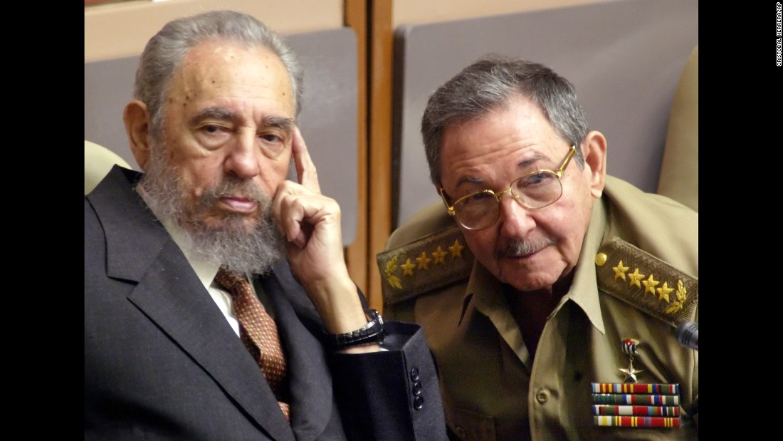 Castro, left, and his brother Raul attend a Parliament session in July 2004.