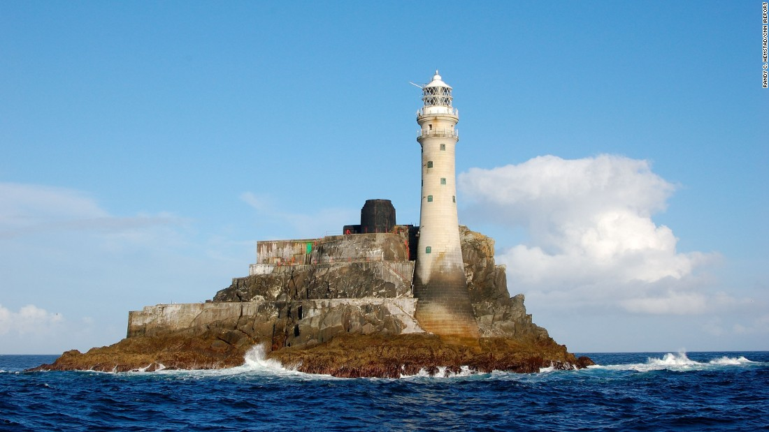 "The <a href=""http://ireport.cnn.com/docs/DOC-1159167"">Fastnet Lighthouse</a> has guided many ships off Ireland's southern coast near County Cork."